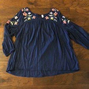 Old Navy Women's Plus Navy Floral Blouse 3X